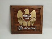 Vintage 1970's Auto Truck Wooden Sign / Plaques American Eagle
