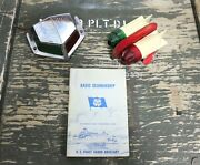 Vintage Nautical Red Green Lights With Us Coast Guard Book