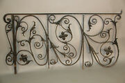1920's Architectural Salvaged Iron Banister Railing Wrought Iron 12170