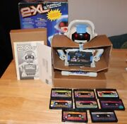 1992 Tiger 2-xl Talking Robot Cassette Player W/ Original Box Manual And 8 Tapes