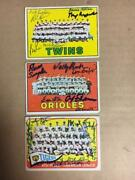 Baltimore Orioles Signed 1967 Topps Team Card6sigdon Bufordwally Bunkeretc