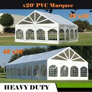 20'x20', 40'x20' - Pvc Marquee Party Wedding Canopy Tent Shelter W Storage Bags