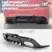 For Hyundai 09-12 Genesis Rohens Coupe Carbon Epa Style Rear Bumper Diffuser Kit