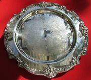 King Francis Pattern Large Serving Tray By Reed And Barton Silverplate 14 1/2 Dia
