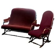 Rare Thonet Bentwood Settee And Matching Chair 1900-1950 2312