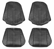 1969 El Camino Coupe Front Bucket Seat Covers Black Distinctive Industries