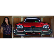 Neon Sign 1950and039s Buick Super 8 Special Grille 53 80 Pounds Steel Can Lamp Light