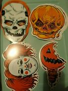 Trick 'r Treat Halloween Decorations Old School Two Sided Fright Rags