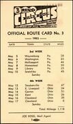 Mills Bros. 3 Ring Circus Menagerie And Horse Show 1952 Official Route Card No.3