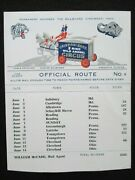 Cristiani Bros. 3 Ring Wild Animal Circus 1959 Season Official Route Number 8