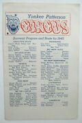 Yankee Patterson Circus Souvenir Program And Route For 1945 Played In California