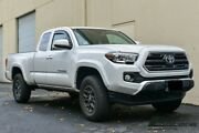 In-channel Smoke Tinted Side Rain Deflectors For 16-up Toyota Tacoma Access Cab