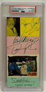 D. Pyle S. Booke J. Best Signed Autograph Slabbed Psa Dukes Of Hazzard