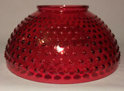New 14 Cranberry Hobnail Glass Dome Shade For Library And Table Lamps Ds312