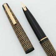 Lady Sheaffer 632 Fountain Pen And03975 - Black Tulle 14k Fine Stylpoint Nib New