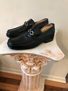 Borgesi Beverly Hills Collection Black Leather Horsebit Hand Made Men 43 Us 10.5