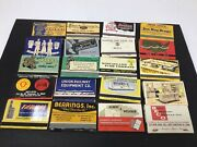 Nos 1940s Matchbook 40 Matches Lot Spring City Pa Industrial Steel Coal Tools