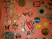 Junk Jewelry Lot New Vintage Religious Sterling Celluloid Some Need Repair Craft