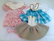 Upstate Ny Estate Find..three Vintage Doll Dresses 1950and039s
