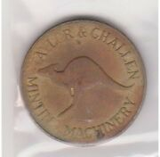 H42-8 Au Token Taylorand Challen Minting Machinery Missing Letters H