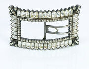 Antique French Silver Paste Belt Buckle