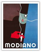 Modiano Italian Cigarette Rolling Papers - R. Bereny Vintage Ad Poster Art Print