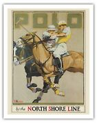 Polo Players Chicago North Shore Line - Hanson Vintage Travel Poster Art Print