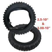 2.5x10 2.5-10 + 3.00x10 3.00-10 Off Road Tyre Tires + Inner Tubes For Crf50 70