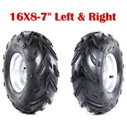 2 Pcs 16x8-7 16x8x7 Tire Wheel Rim For Coolster Kids Atv Quad Buggy Left And Right