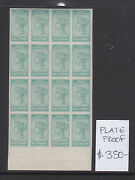 South Australia Plate Proof Of The Little 1/2d Green Stamp. In Block Of 16 Muh