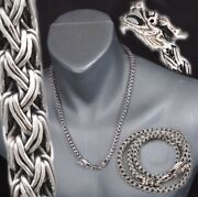 Dragon Snake Woven 925 Sterling Silver Mens Necklace Chain 18 20 22 24 26 28