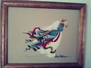 Hand Finished And Custom Framed Angel Counted Cross Stitch