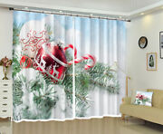 3d Red Ball Pine Branch G731 Christmas Window Photo Curtain Fabric Quality Amy