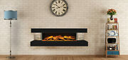 European Home Compton 1000 Black Tile 60 Linear Wall Mounted Electric Fireplace