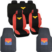 Wonder Woman Seat Covers And Rubber Floor Mats For Car Suv Truck Full Set