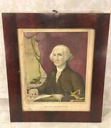 George Washington 1st President Of The United States Lithograph D W Kellogg