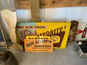 Vintage Metal Roy Acuffand039s Dunbar Cave Tennessee Sign Gas Station Store Cola Soda