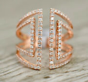 2.30ct Natural Round Diamond 14k Solid Rose Gold Wedding Cocktail Ring
