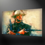 Clint Eastwood Wall Art Canvas Print Picture Free Uk Delivery Variety Of Sizes
