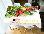 3d Happy New Year G679 Christmas Tablecloth Table Cover Cloth Birthday Party Amy