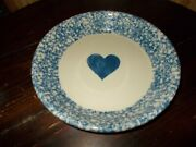 Fp Pottery Usa Pottery Roseville Ohio 10 Inch Pie Plate With Blue Sponged Look