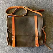 A R Andler And Company Thick Leather Messenger Bag Backpack Briefcase Laptop Case