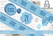 Blue Silver 21st Birthday Party Supplies Tableware And Decorations Glitz Age 21
