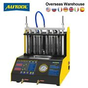 Ct150 Ct200 Car Fuel Injector Cleaner Tester Machine Ultrasonic 4/6 Cylinder