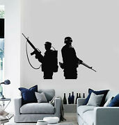 Vinyl Wall Decal Military Soldier Gun Weapon Man Cave Decor Stickers G1887