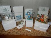 4 Charming Tails Fitz And Floyd Lot New And Used One Signed Mint