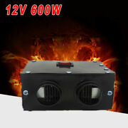 12v 600w Car Auto Portable Electric Heater Warmer Cooling Fan Defroster Demister