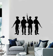 Vinyl Wall Decal Military Army Weapons Soldiers Man Cave Decor Stickers G1896