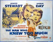 The Man Who Knew Too Much Movie Poster 1956 Hitchcock Doris Day James Stewart