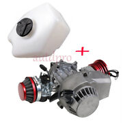 49cc 2 Stroke Motor Complete Engine + Gas Tank For Motorized Bicycle Mini Quad